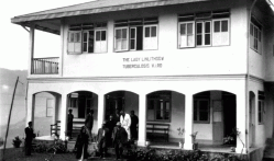 The Lady Linlithgow hospital Presently STNM hospital during the 7th Planning Commision visit 27th Nov. 1957