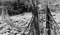 cane bridge at Sankalank- Bay North Sikkim